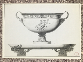 Design for a silver tureen wit