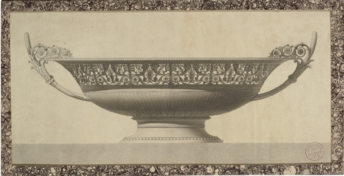 Design for a tazza with an ela