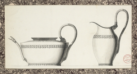 Designs for a tea pot and a ju