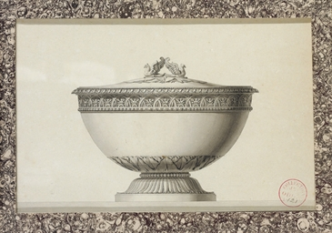 Design for a tureen crowned wi