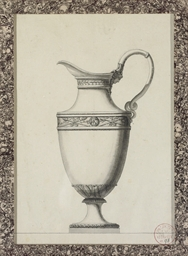 Design for a ewer with a Greci