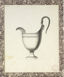 Design for a jug with a ram's