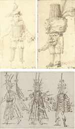 Two costume designs for a bal
