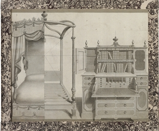 Design for a four poster bed a