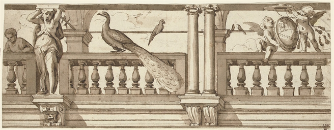 Design for a frieze with an op