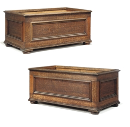 A PAIR OF GEORGE IV OAK LOG BA