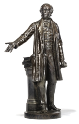 A VICTORIAN BRONZE FIGURE OF W
