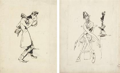 A caricature of a gentleman pe