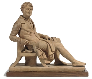 A GEORGE IV TERRACOTTA MODEL O