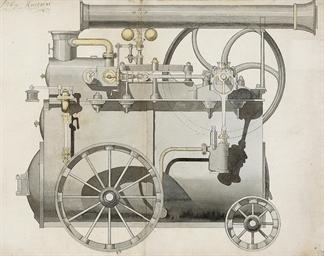Design for a locomotive, circa