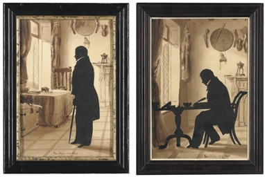 Two silhouettes of Sir Walter