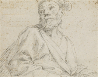 A bearded man, bust-length, lo