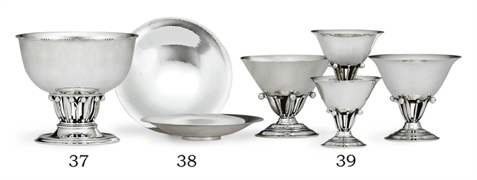 A DANISH SILVER BOWL DESIGNED