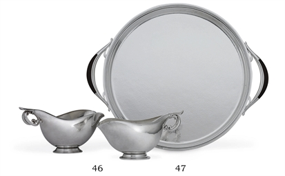 A DANISH SILVER TWO-HANDLED TR