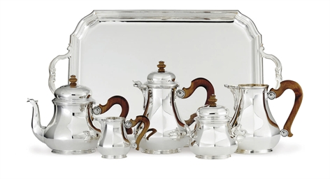A FRENCH FIVE-PIECE SILVER TEA