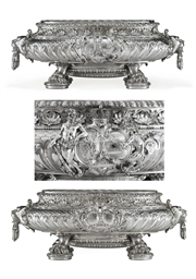 A GERMAN SILVER WINE CISTERN
