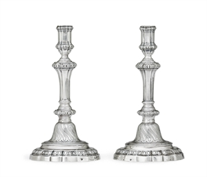 A PAIR OF LOUIS XVI SILVER CAN