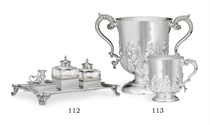 TWO VICTORIAN SILVER TROPHY CUPS