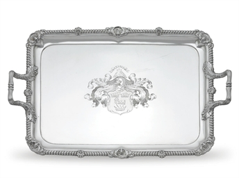 A REGENCY SILVER TWO-HANDLED T