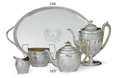 AN ASSEMBLED GEORGE III SILVER