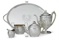 A GEORGE III SILVER TEA TRAY