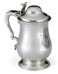 A GEORGE II IRISH SILVER TANKA