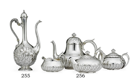 AN AMERICAN SILVER COFFEE POT*