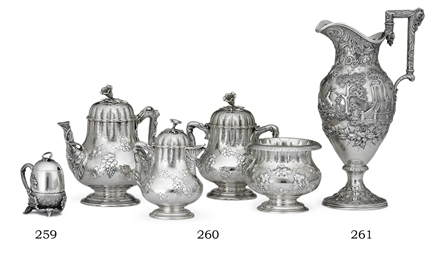 AN AMERICAN FOUR-PIECE SILVER