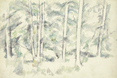 Forêt (recto); Arbres et buiss