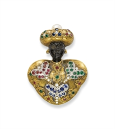 A GOLD AND GEM-SET 'BLACKAMOOR