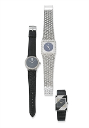 TWO DIAMOND WRISTWATCHES, BY C
