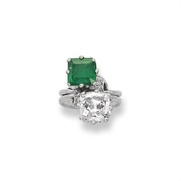 AN EMERALD AND DIAMOND 'TOI ET
