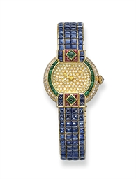 A RARE LADY'S GEM-SET AND DIAM