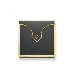 AN ART DECO BLACK LACQUER AND