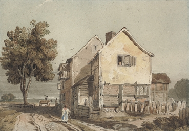 View of a cottage, possibly Ch
