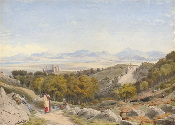 View of Harlech Castle with th