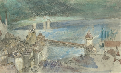 View of the Kapellbrucke, with