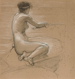 A study of a nude for 'A Nymph