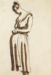 Pregnant girl standing