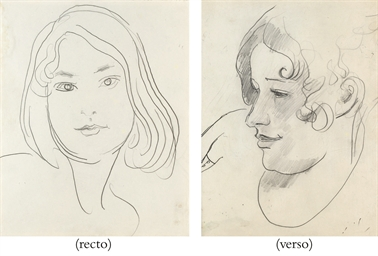 Study of Vivien (recto); Study