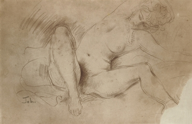 Study of a female nude (recto)