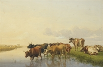 Cows on the banks of the Stour