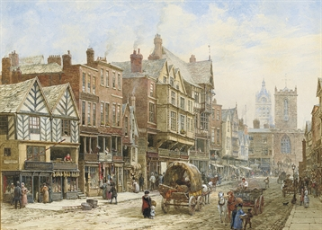 Bridge Street, Chester, with S