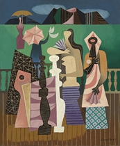 The Promenade (also titled 'The Boardwalk' on Perls Galleries label)