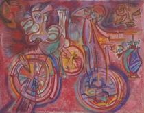 Bicicletas en rojo