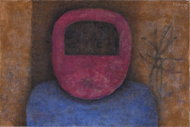 Figure in Red and Blue