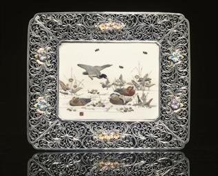 A silver filigree and Shibayam