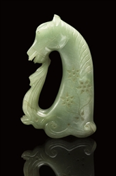 A MUGHAL-STYLE GREEN HARDSTONE