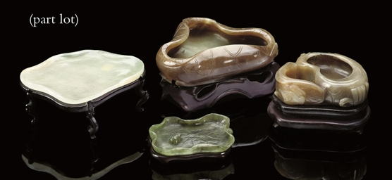 A selection of celadon, spinac