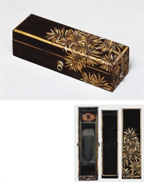 A rare suzuribako [writing box